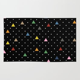 Pin Point Triangles Black Rug