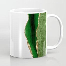 Beautiful Green Agate Pattern Design Coffee Mug