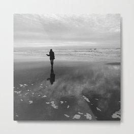 Sunset at Ocean Beach Metal Print