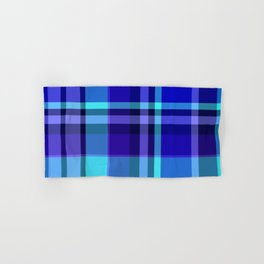 Blue Plaid Pattern Hand & Bath Towel