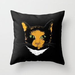 Meowington Throw Pillow