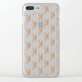 Double Helix - Rose Gold #676 Clear iPhone Case