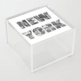New York  B&W typography Acrylic Box