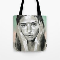 miami Tote Bags featuring Miami by Sherie Myers