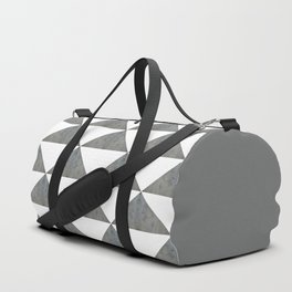 Cement White Triangles Duffle Bag