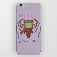 starcraft iPhone & iPod Skins featuring Fight Like a Girl - Starcraft's Infested Kerrigan by ~ isa ~