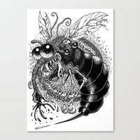 bug Canvas Prints featuring BUG! by PRESTOONS / Art by Dennis Preston