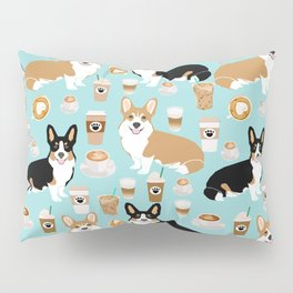 Corgis and coffee pillow phone case corgi gift cute cardigan corgi art Pillow Sham
