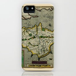 Map of The Isle of Wight 1605 iPhone Case