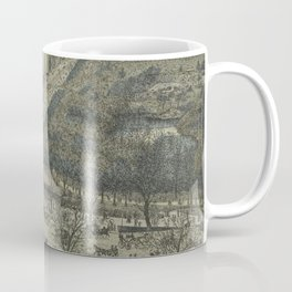 Vintage Pictorial Map of Central Park, 5th Avenue & 59th Street (1886) Coffee Mug