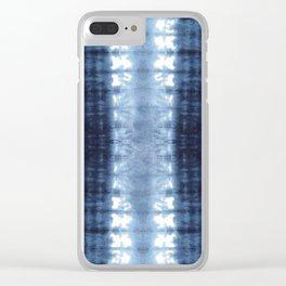 Neue Jersey Shibori Clear iPhone Case