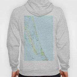 Northern Outer Banks North Carolina Map (1985) Hoody