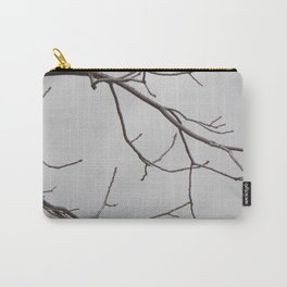 Cold Grey Sky Behind Leafless Tree Branches Carry-All Pouch