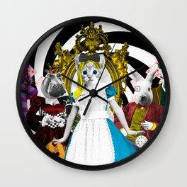 Cat-lice in Wonderland Wall Clock