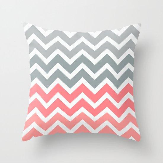 Chevron Pink Fade Throw Pillow