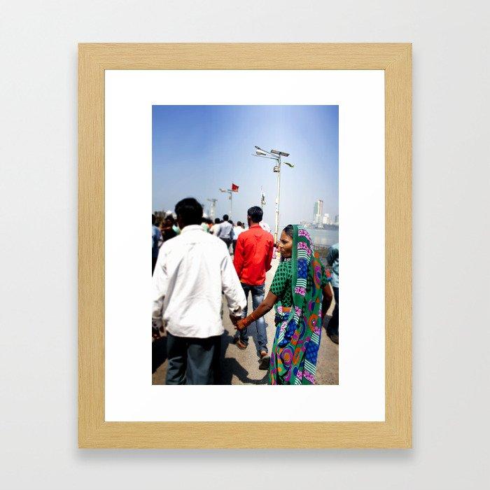 Mumbai Crowds - Haji Ali Mosque - 15 Framed Art Print