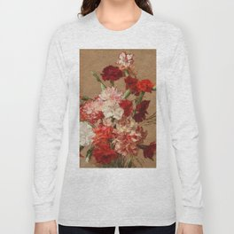 Henri Fantin Latour - Carnations Without Vase Long Sleeve T-shirt