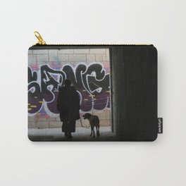Woman and dog, graffiti Carry-All Pouch