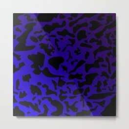 Spotty blue blots on a dark military gradient. Metal Print