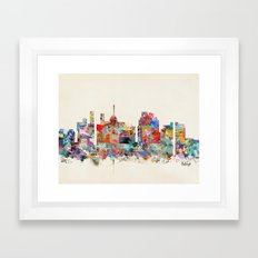 raleigh north carolina Framed Art Print