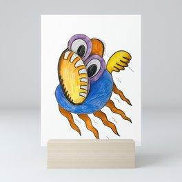 Fly Fish In Panic Mini Art Print