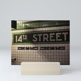 14th Street Station Mini Art Print