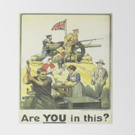 Vintage poster - Are YOU in this? Throw Blanket