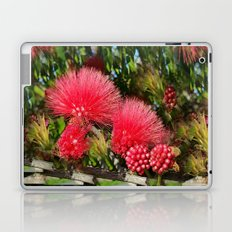 Wild fluffy red flowers Laptop & iPad Skin