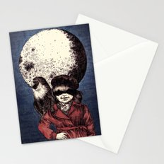 Posing on the moon Stationery Cards