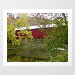 Bakers Camp Covered Bridge II Art Print