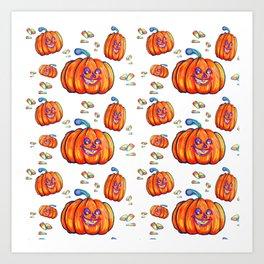 Pumpkin and Corn Candy Art Print