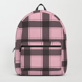 Baby Pink Plaid Backpack