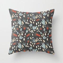 Dandelion Dusk Throw Pillow