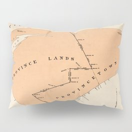 Vintage Map of Provincetown MA (1893) Pillow Sham
