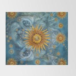 """Saturn mandala celestial vault"" Throw Blanket"