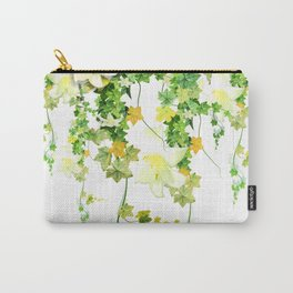 Watercolor Ivy Carry-All Pouch