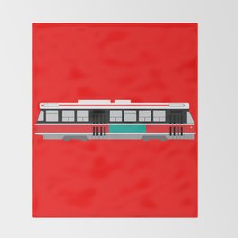 Toronto TTC Streetcar Throw Blanket