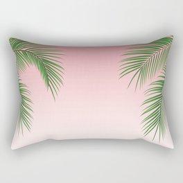 Palm Tree Leaves Rectangular Pillow