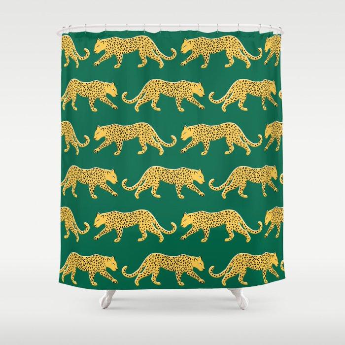 The New Animal Print Emerald Shower Curtain