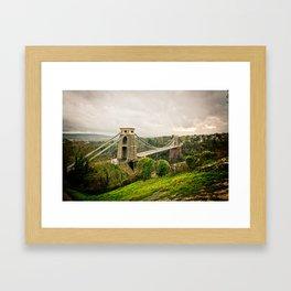 Bristol- Clifton Suspension Bridge Panorama Framed Art Print