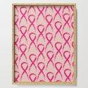 Grunge pink ribbon by annartshock