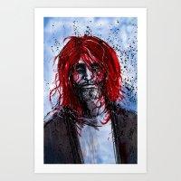 kurt cobain Art Prints featuring Kurt by Stewart Cook