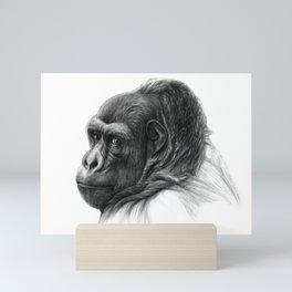 Gorilla G038b schukina Mini Art Print