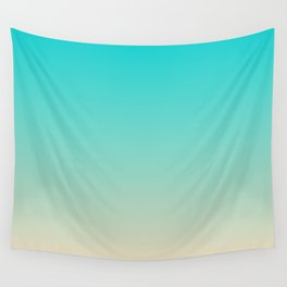 Dark Turquoise Tropical Paradise Island Tahitian Beach Wall Tapestry