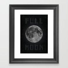 Full Moon Calendar Framed Art Print