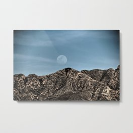 Moon over the Franklin Mountains Metal Print