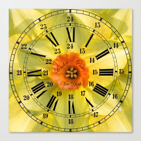 The Power of Petals 2...The Clock! Canvas Print