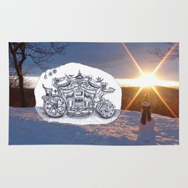 Travel with Mr Snowman Rug