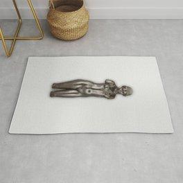 Naked woman sculpture, Torse de Dina. Finest Museum art. Rug