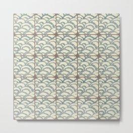 Waves pattern Metal Print